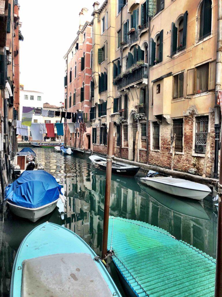 view of the Rio del Gheto in Venice